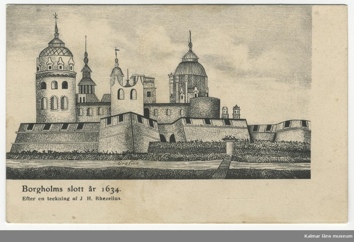 Borgholm slott år 1634.