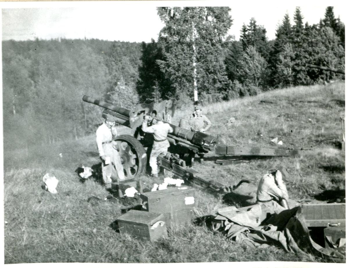 Kanon m/1934, 10,5 cm. Villingsberg, Närke.