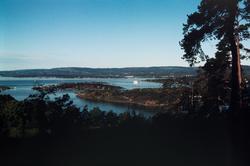 Utsikt mot Hovedøya og Lindøya.