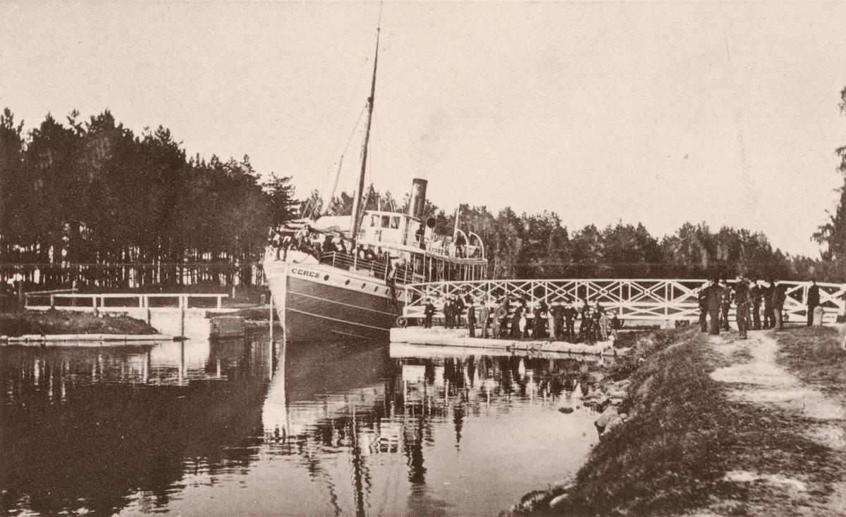 Rödesunds hamn vid Karlsborgs fästning.