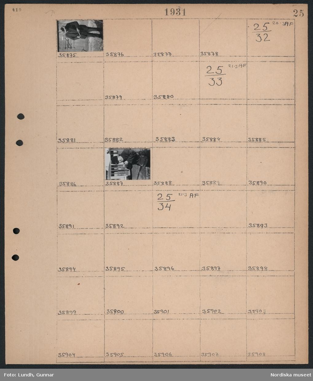 Motiv: Hammarbyleden; Porträtt av en man som slipar på en brynsten.  Motiv: (ingen anteckning) ; Man i uniform tänder en pipa.  Motiv: (ingen anteckning) ; Ej kopierat.