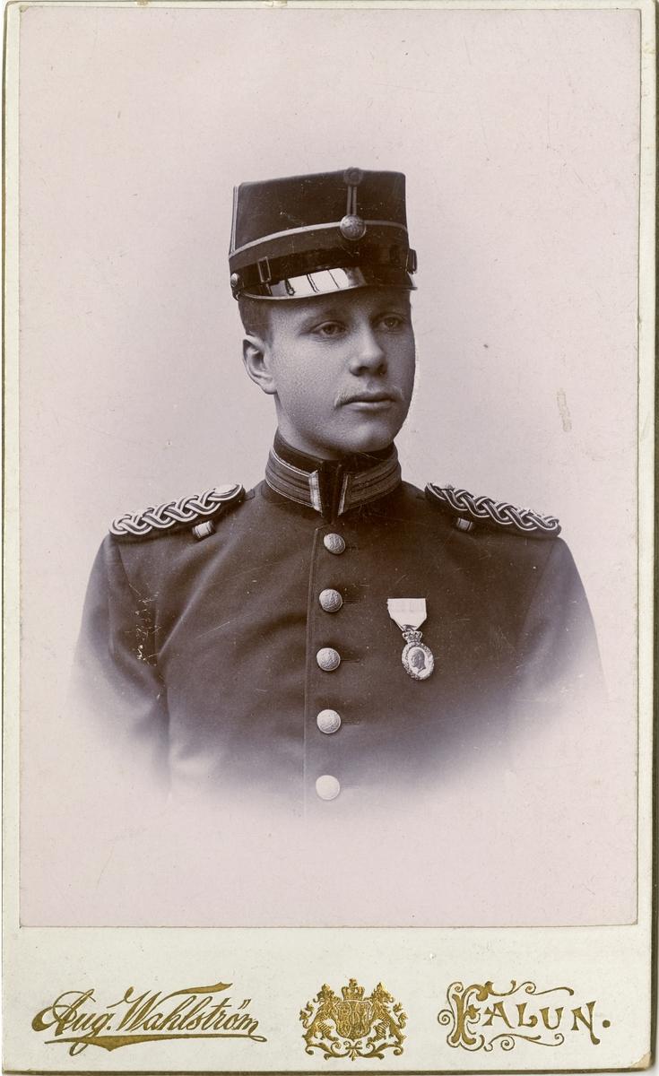 Porträtt av Carl August Tersmeden, underlöjtnant vid Västmanlands regemente I 18.
