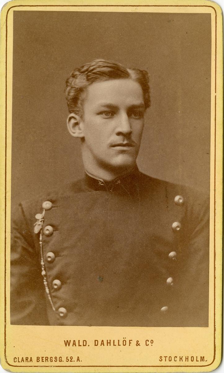 Porträtt av Hans Alexander Gustaf Altvater Pantzerhielm, underlöjtnant vid Kronobergs regemente I 11.
