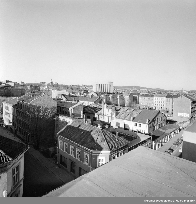 Grünerløkka: Kvartalet som skal rives. November 1973