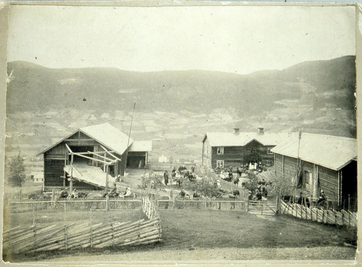 Søre Thorsrud. Bertine og Per Listrerud giftar seg, 1901.