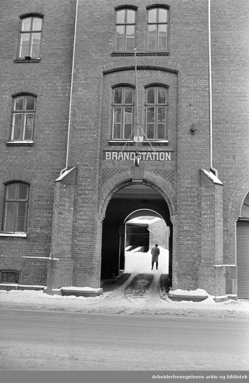 Grønland brannstasjon, mars 1978.