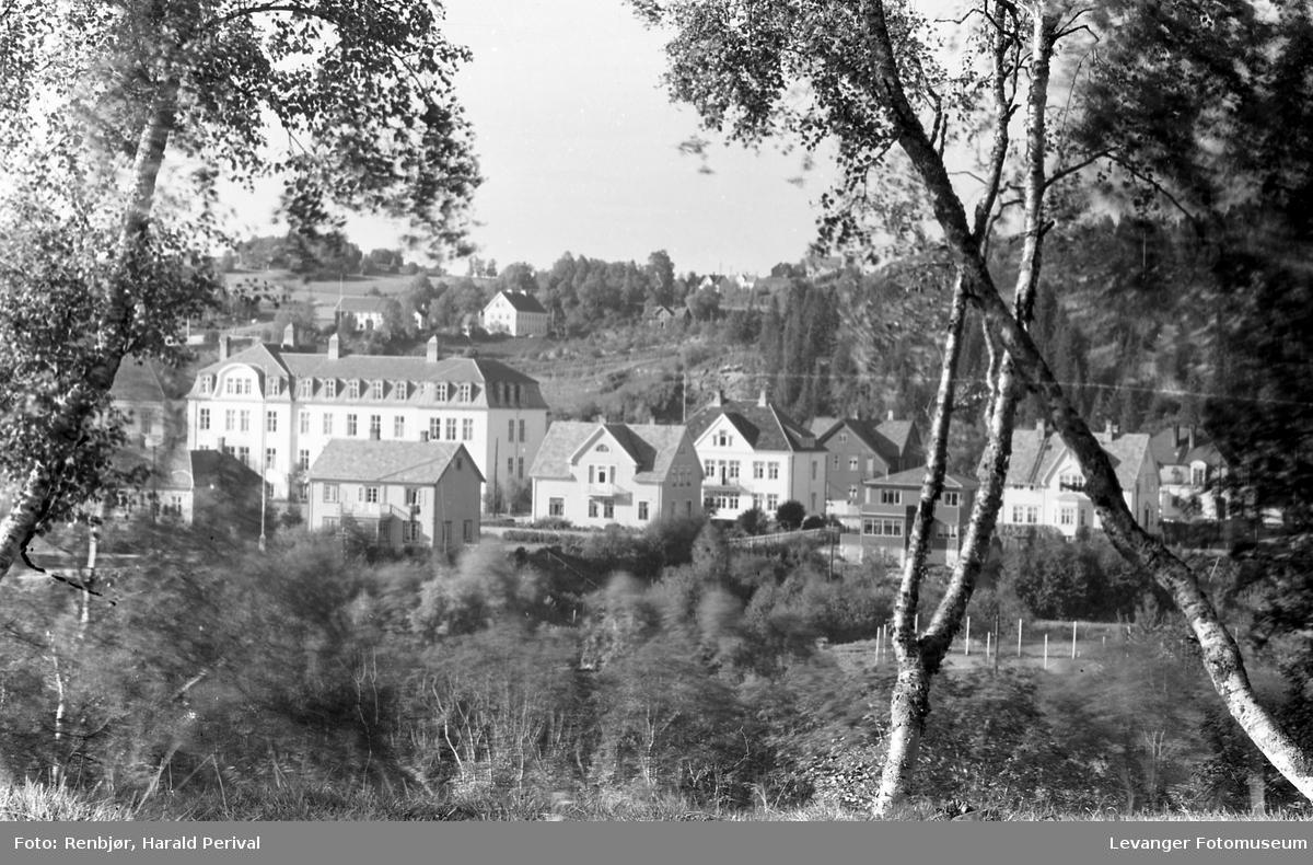 Utsikt mot Levanger sykehus,