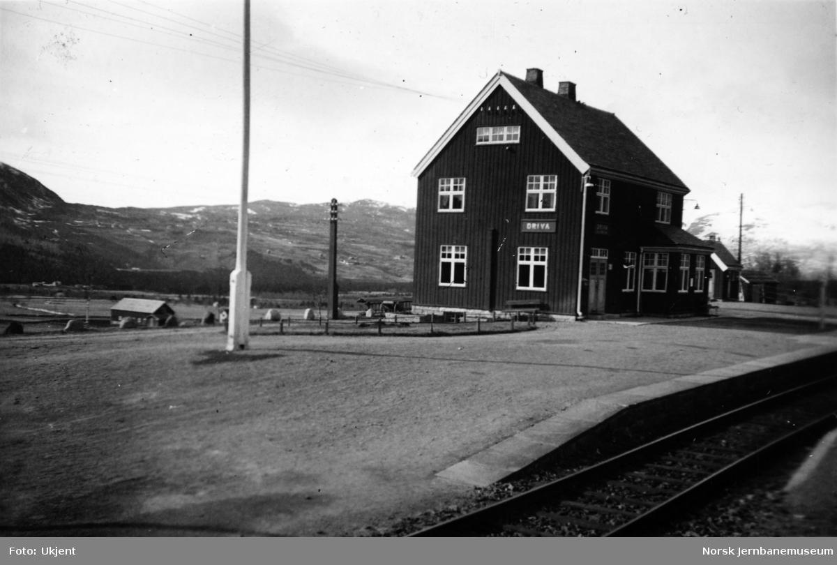 Driva stasjon i krigsårene