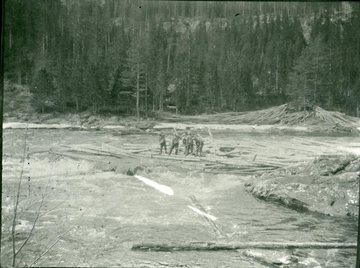 Tømmerfløting i Begna.