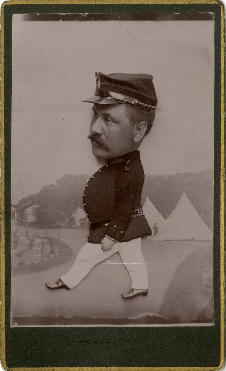 Porträtt av okänd soldat vid Södra skånska infanteriregementet I 25.