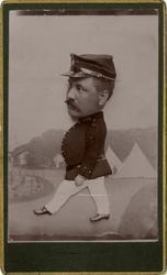 Porträtt av okänd soldat vid Södra skånska infanteriregement