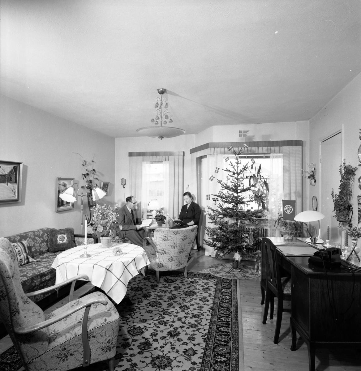 Vardagsrum. Den 21 januari 1957. Bilder för bok
