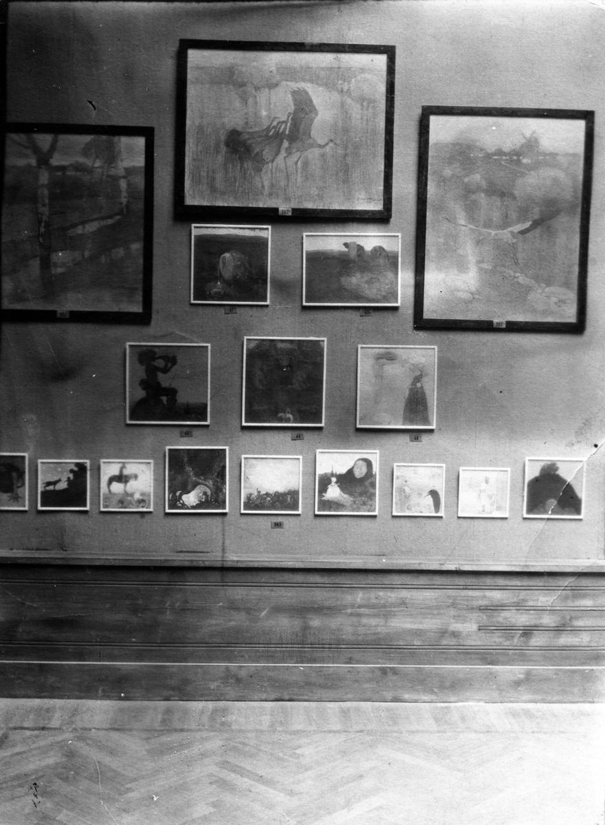 En konstutställning med John Bauers tavlor.