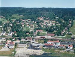 Flygbild Ljungskile 1970