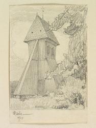 Teckning av Ferdinand Boberg. Uppland, Åkers skplg., Riala k
