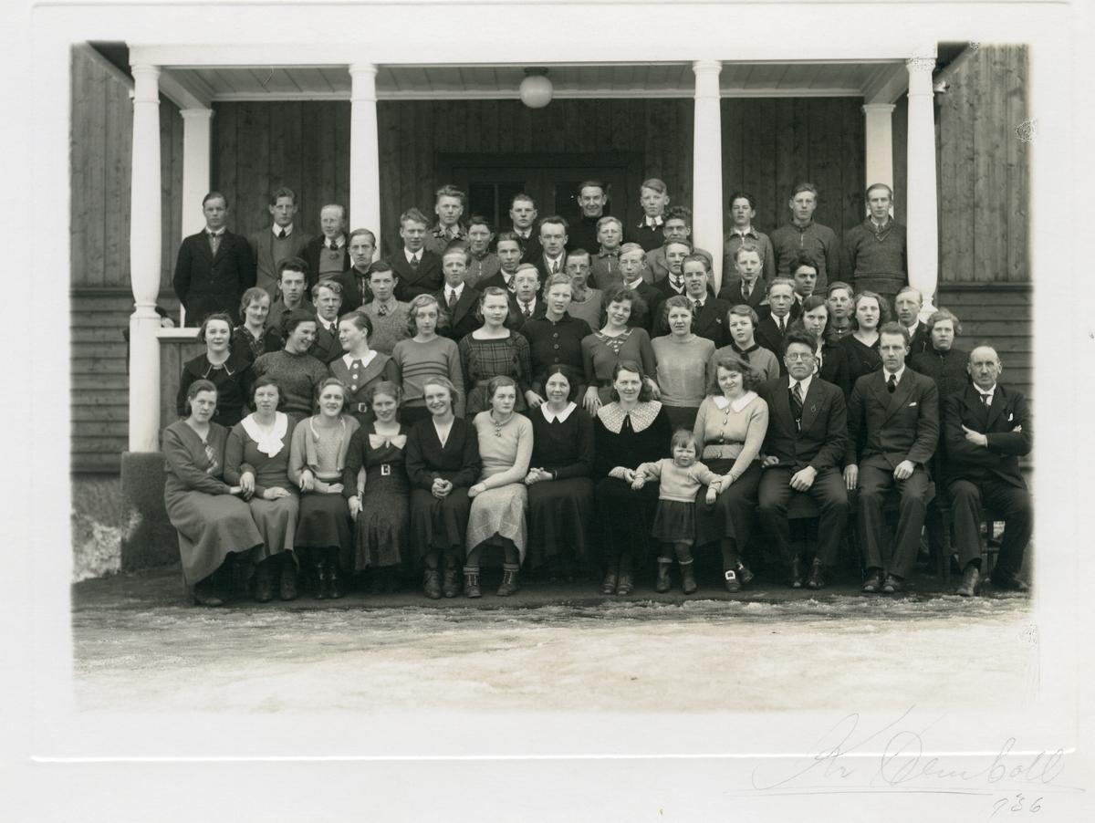 Klasse ved Vestoppland folkehøgskule.