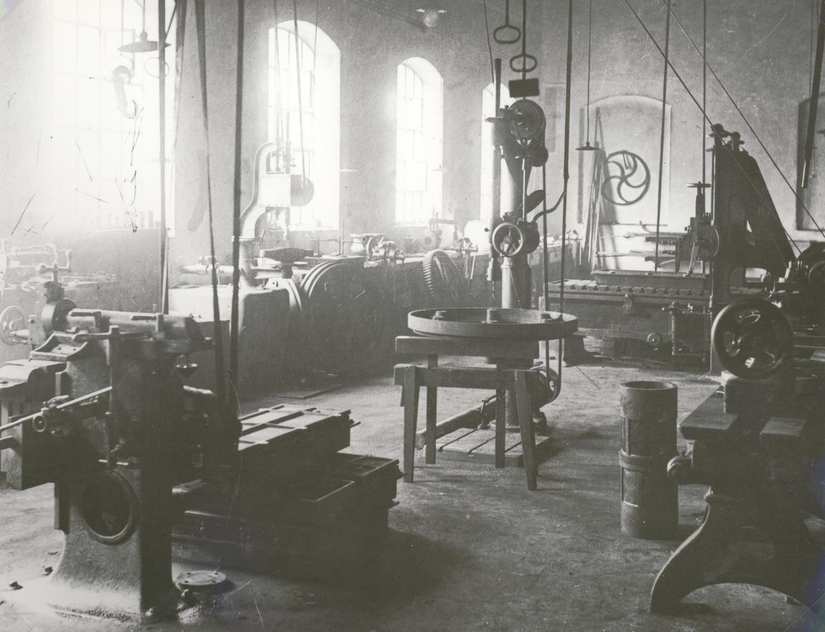 Interiör från verkstaden på Mörbylånga sockerbruk.