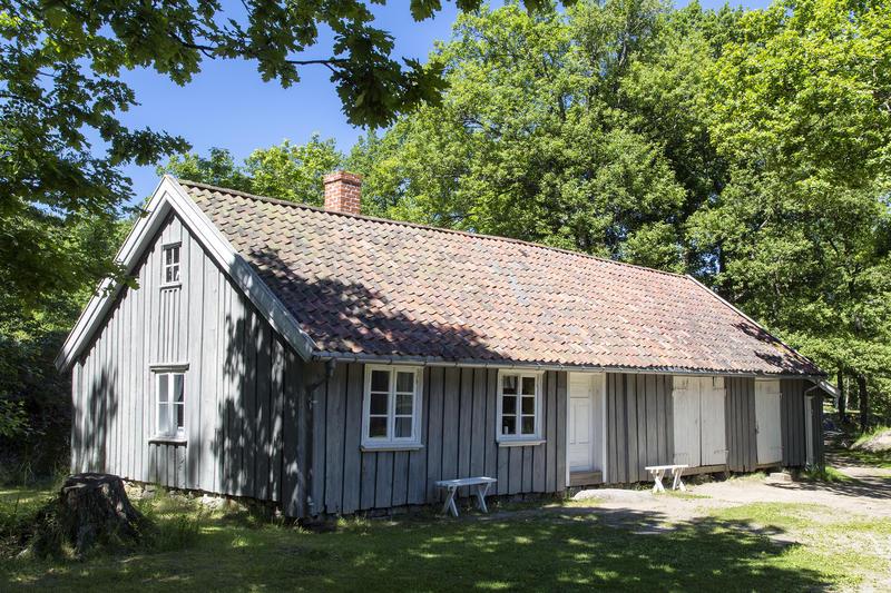 Bryggerhuset fra Skjellerud. Gjenoppført på Follo museum i 1994.