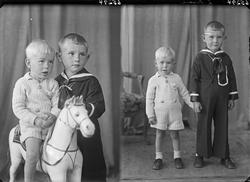 Portrett. To unge gutter. Bestillt av Odd Ringen. Bjørnsensg