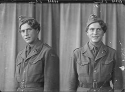 Portrett. Ung mann i uniform. Bestillt av Otto Staudard Svar