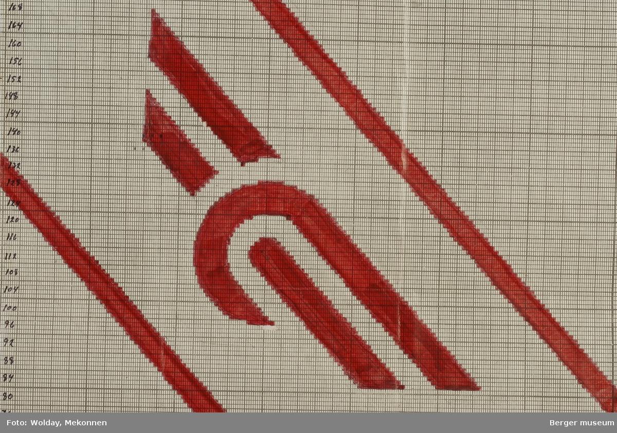 NSB Nytt Vognhjul med striper diagonalt. B-1 og B-2 hører sammen.