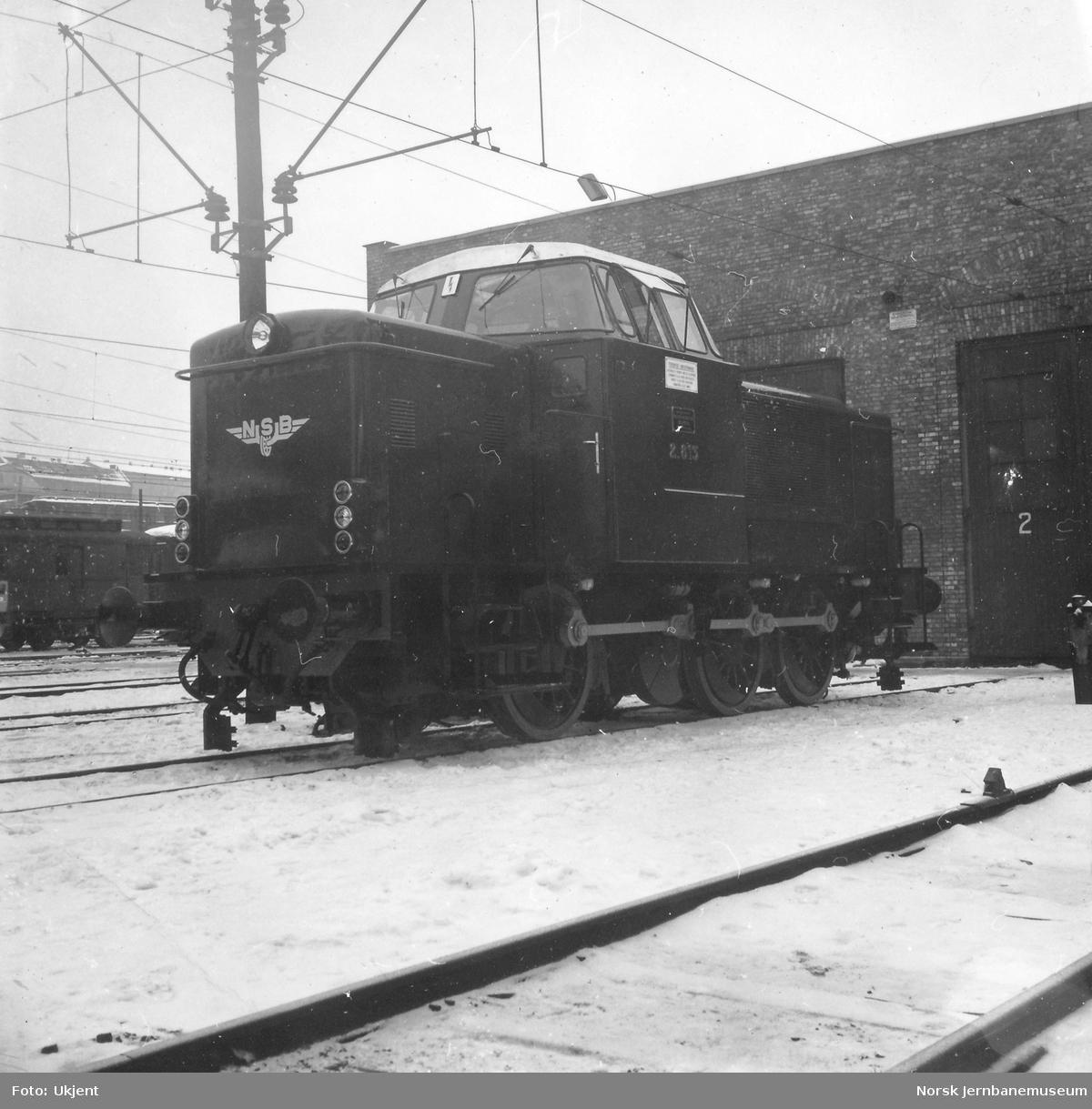 Nytt diesellokomotiv Di 2 813