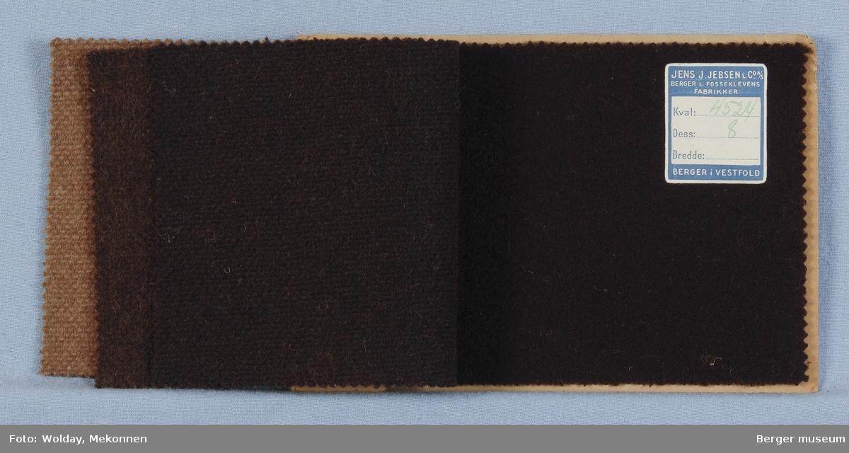 Prøvebok med 4 prøver Frakkestoff Melert Kval. 4524