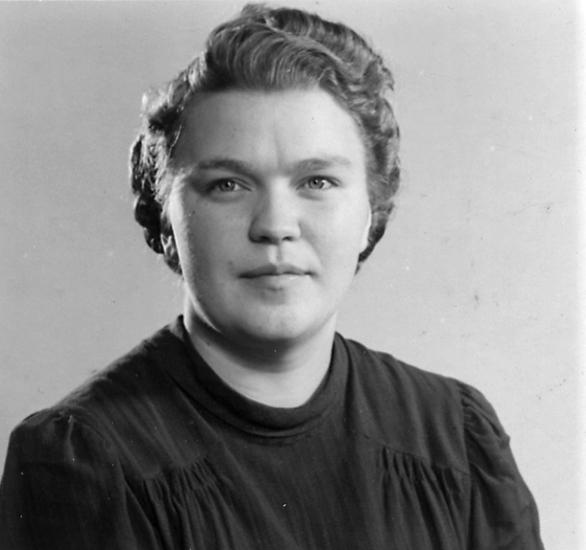 Greta Wilsson, från en granngård till Heljesgården, Bolum socken.