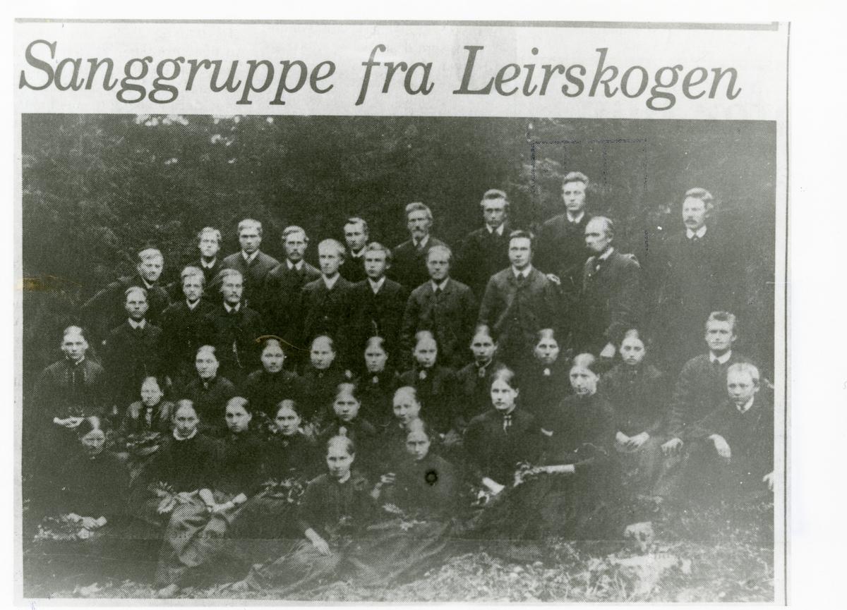 Sanggruppe frå Leirskogen.