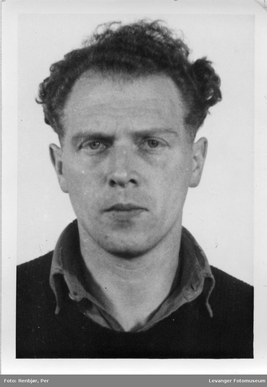 Alf Nilsen Aune medlem av Rinnanbanden, fotografi tatt i forbindelse med rettsaken.