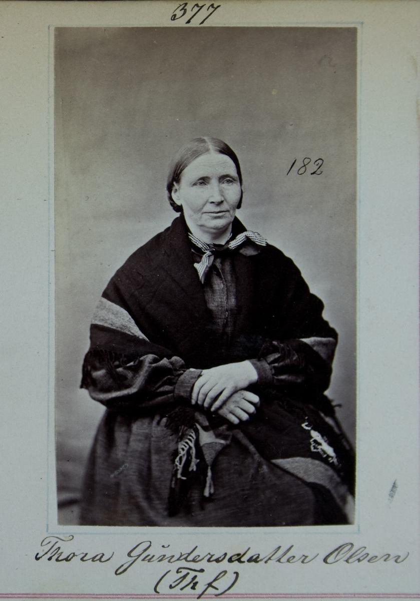 Fangeportrett, Thora Gundersdatter Olsen