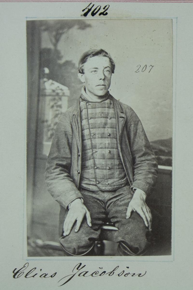 Fangeportrett, Elias Jacobsen