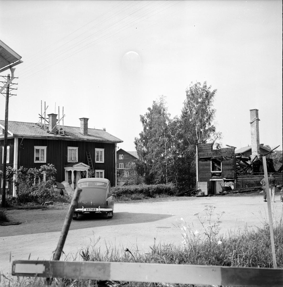 Hå, Saftfabrik, Brand, 21 Juni 1966