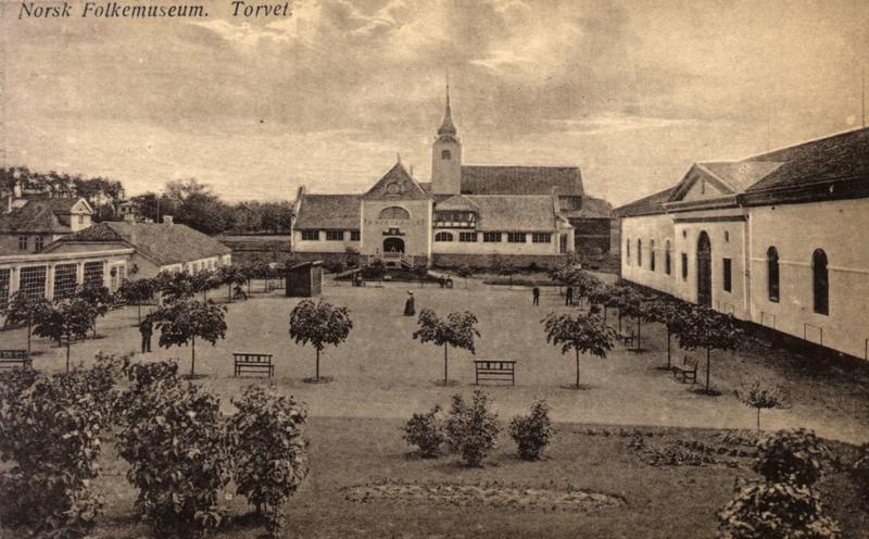 E første museumsbygningene på Norsk Folkemuseum