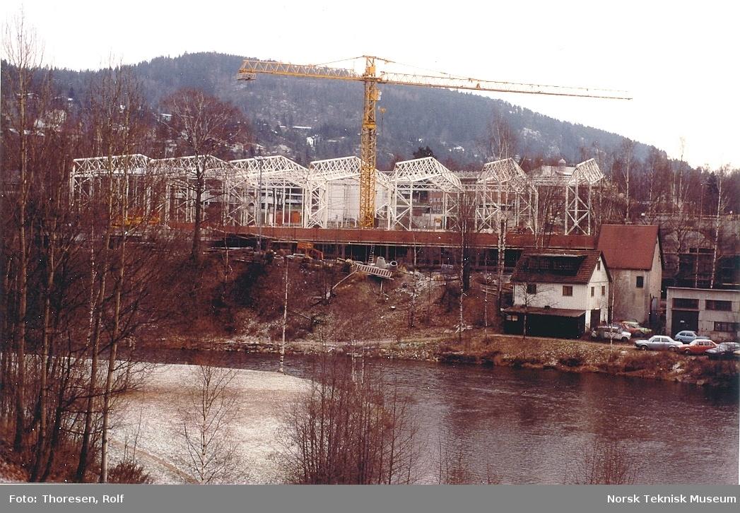 Fotografier fra byggeprosessen til Teknisk museums bygg på Kjelsås.