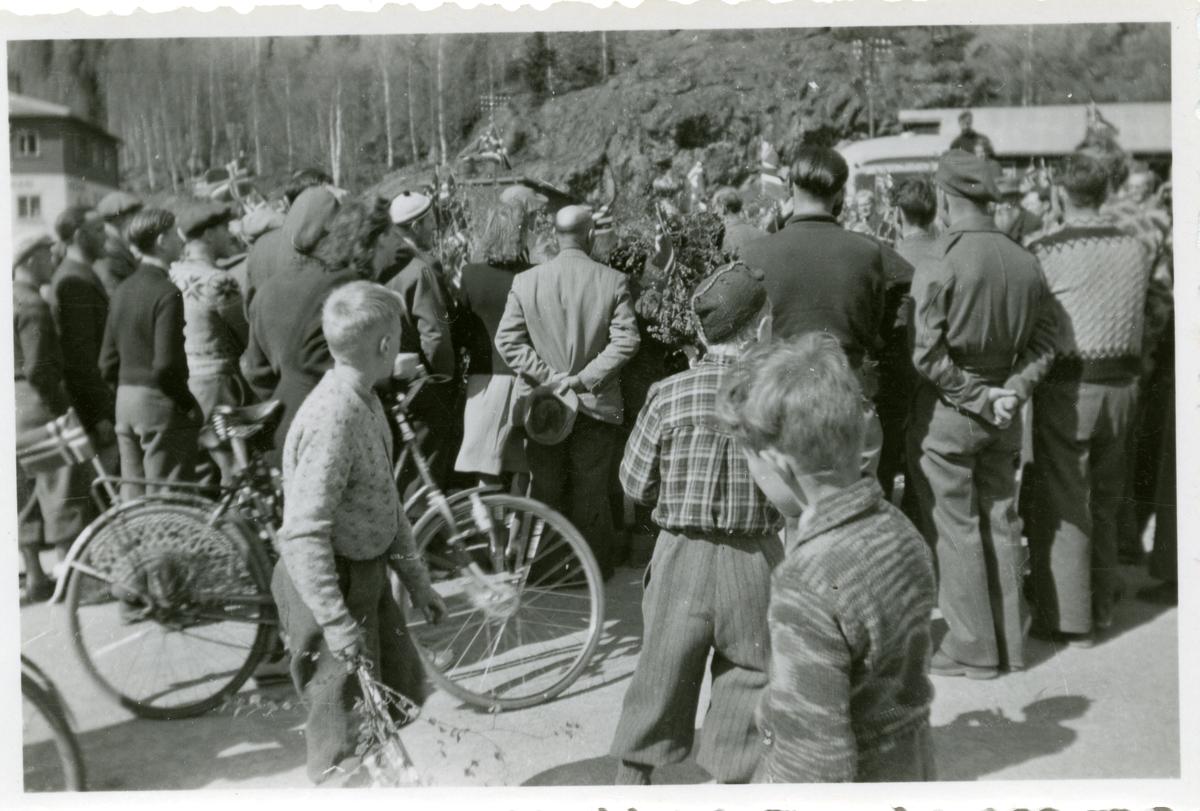 Frå frigjeringa, mai 1945.