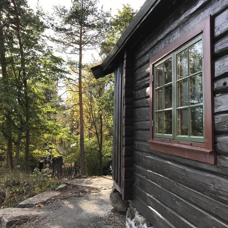 DNT-hytte på Norsk Folkemuseum, 2017. Foto: Astrid Santa, Norsk Folkemuseum.