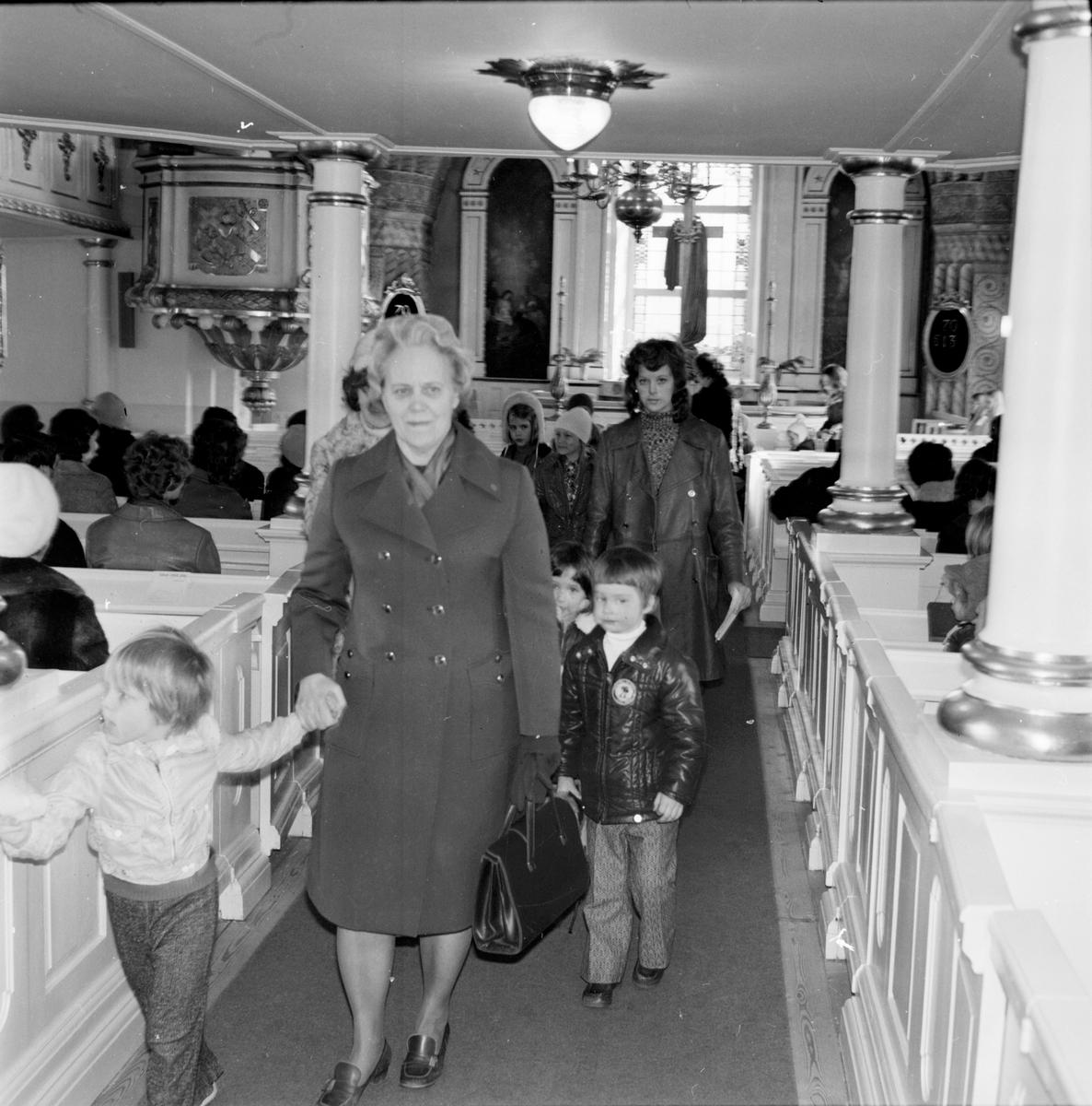 Arbrå Kyrka, Besök av kyrkans barntimme, April 1972