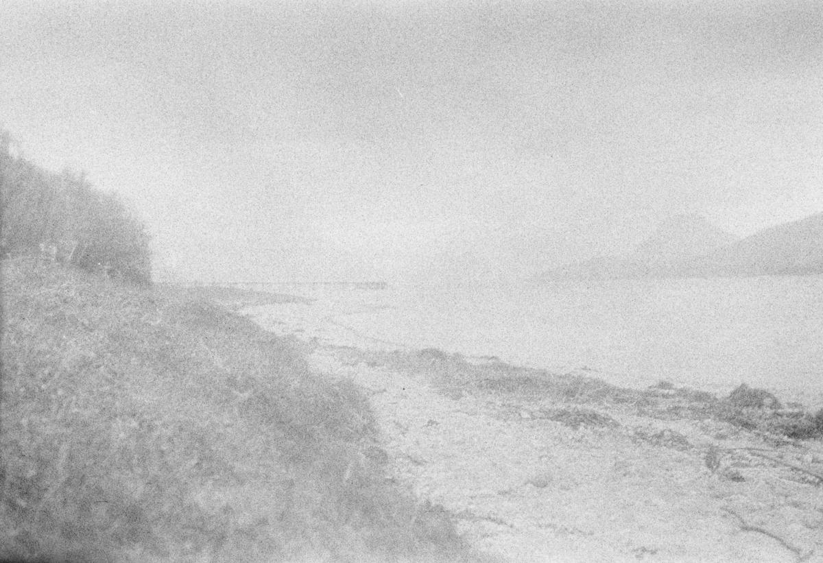 Landsleir i Åndalsnes 1928. Utsikt over fjorden.