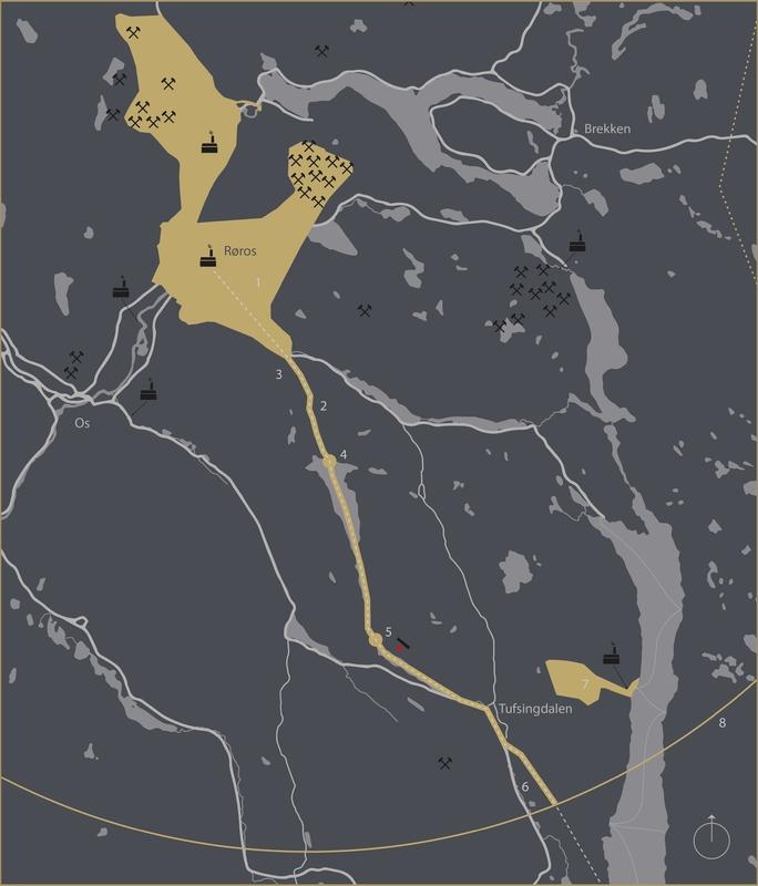 Kart over Vinterveien