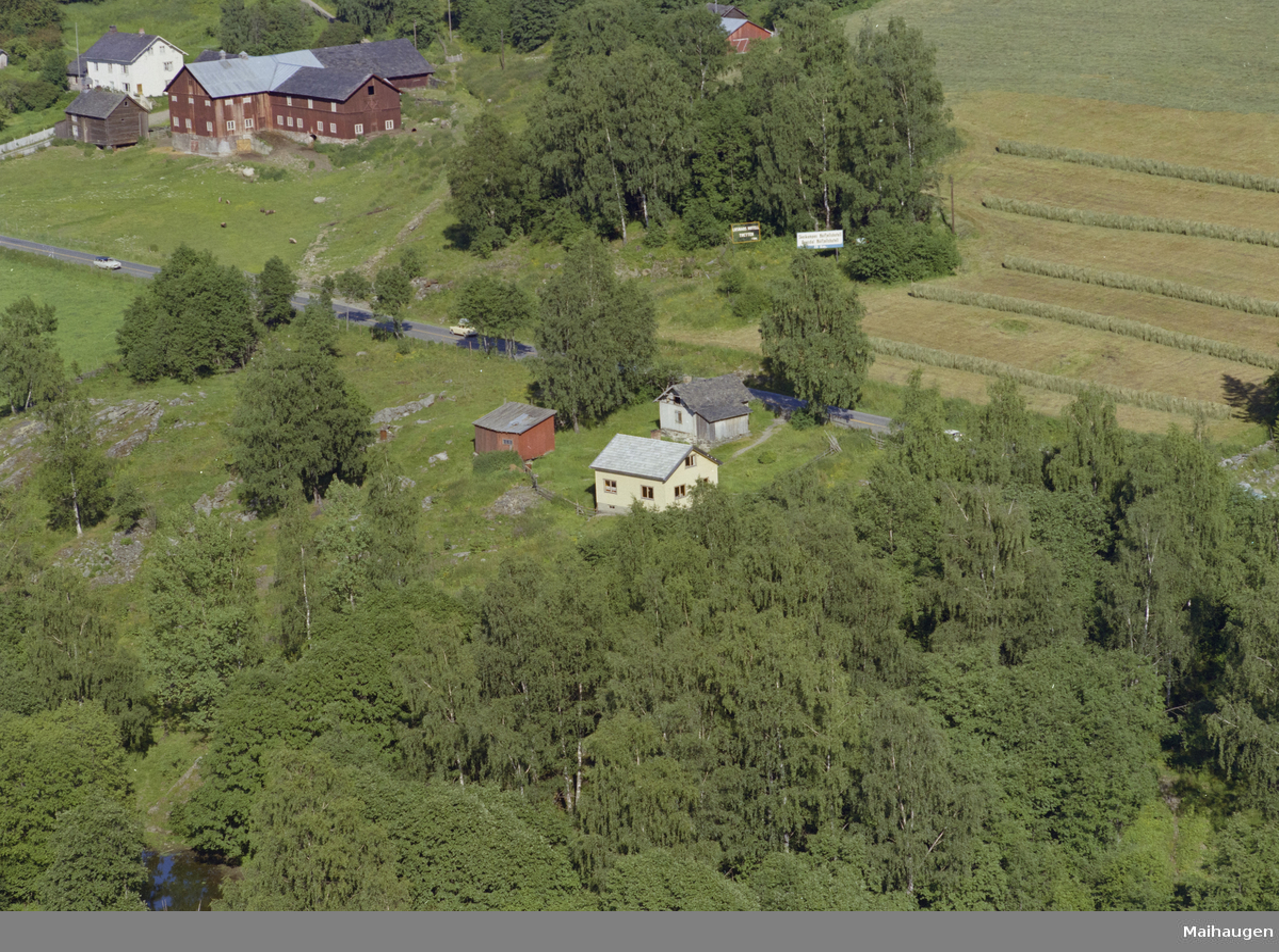 Øyer, Tretten, Sør-Tretten. Holmen Gård, se SS-WØ-154027. Kulturlandskap, skog, bygninger, gårdsbruk, landbruk