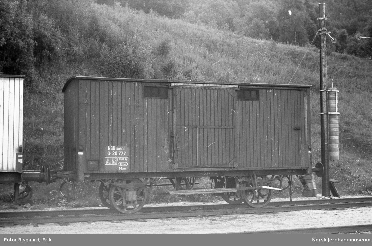Godsvogn litra G3 nr. 20777 på Dombås stasjon