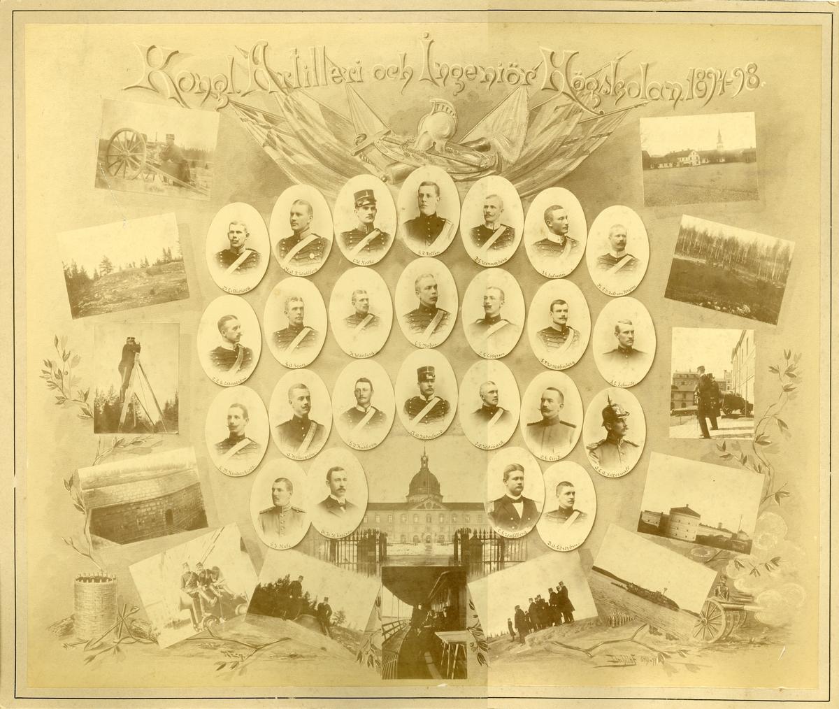 Officerare vid Artilleri- och ingenjörhögskolan 1894-1898.