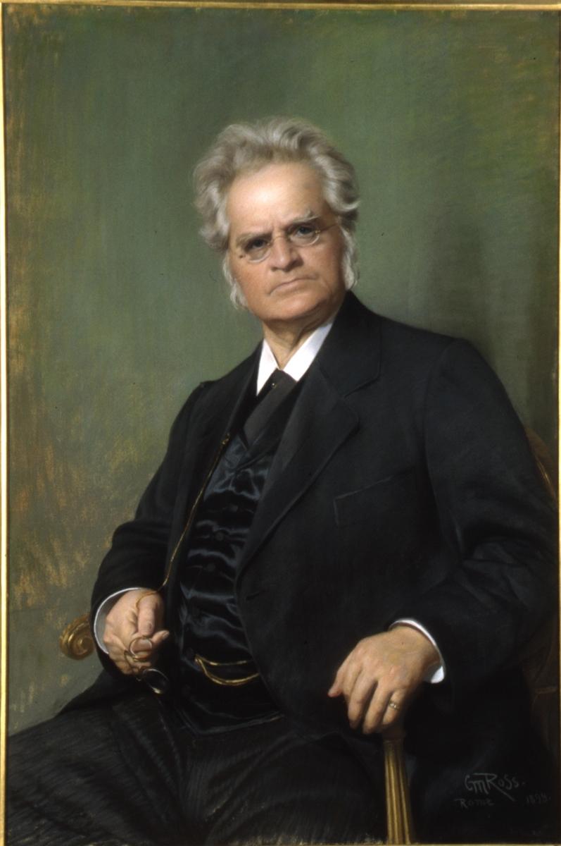 Portrett av Bjørnstjerne Bjørnson sittende.