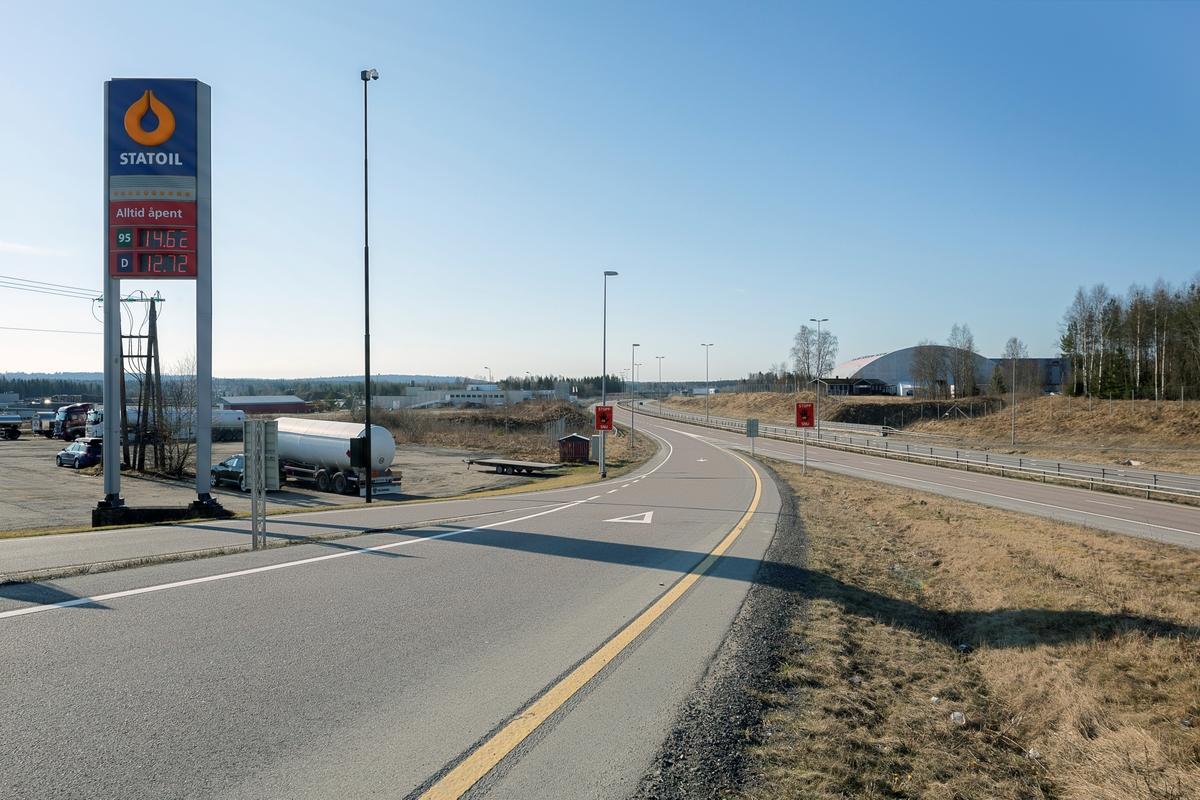 Statoil Dal. Veiskilt Statoil ved avkjøring fra motorvei.