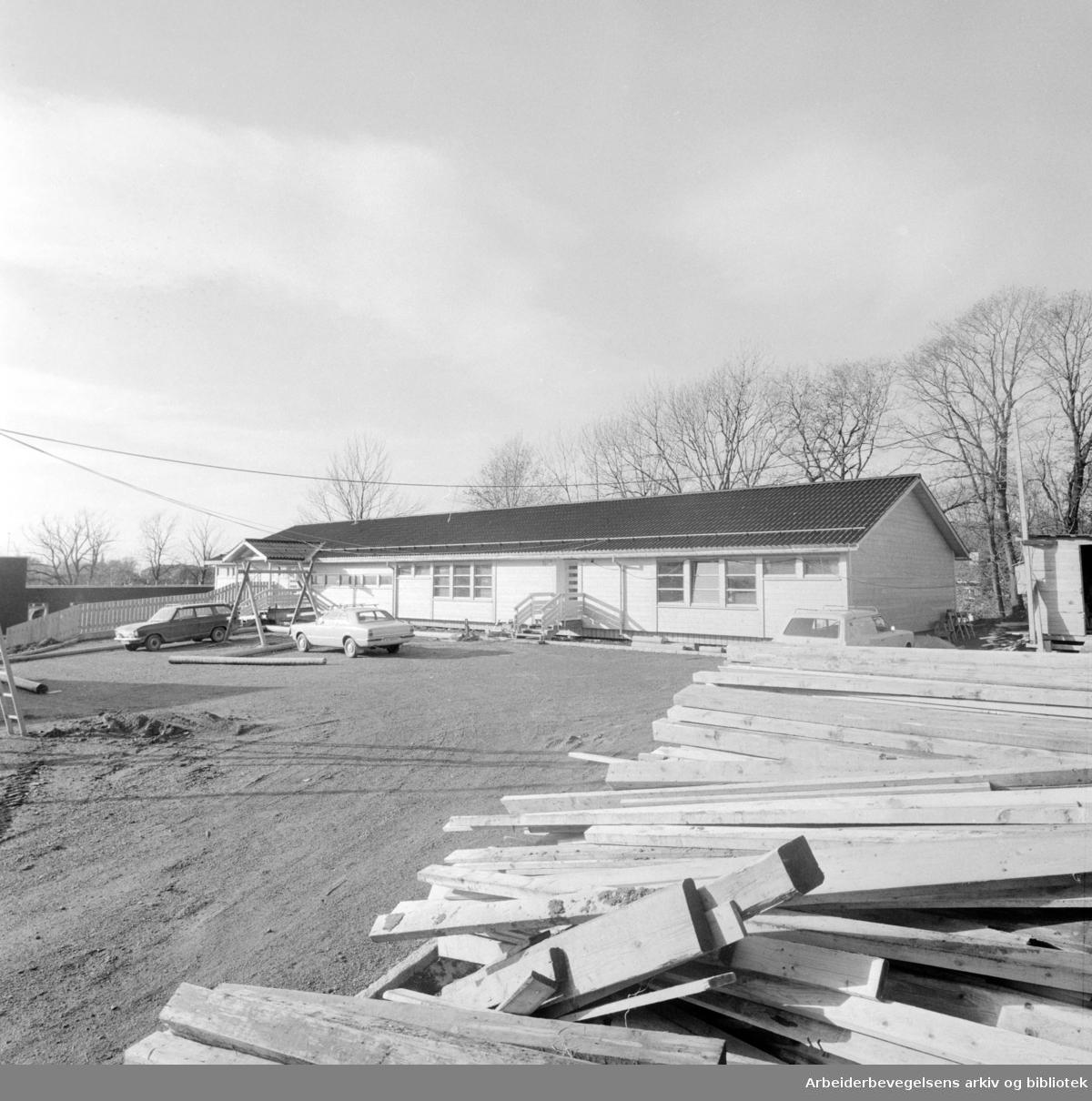 Tåsen daghjem. November 1974