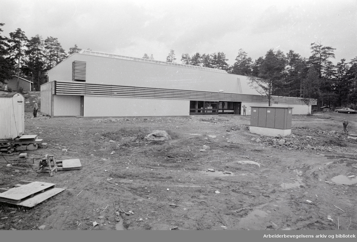 Trasop idrettshall. August 1970