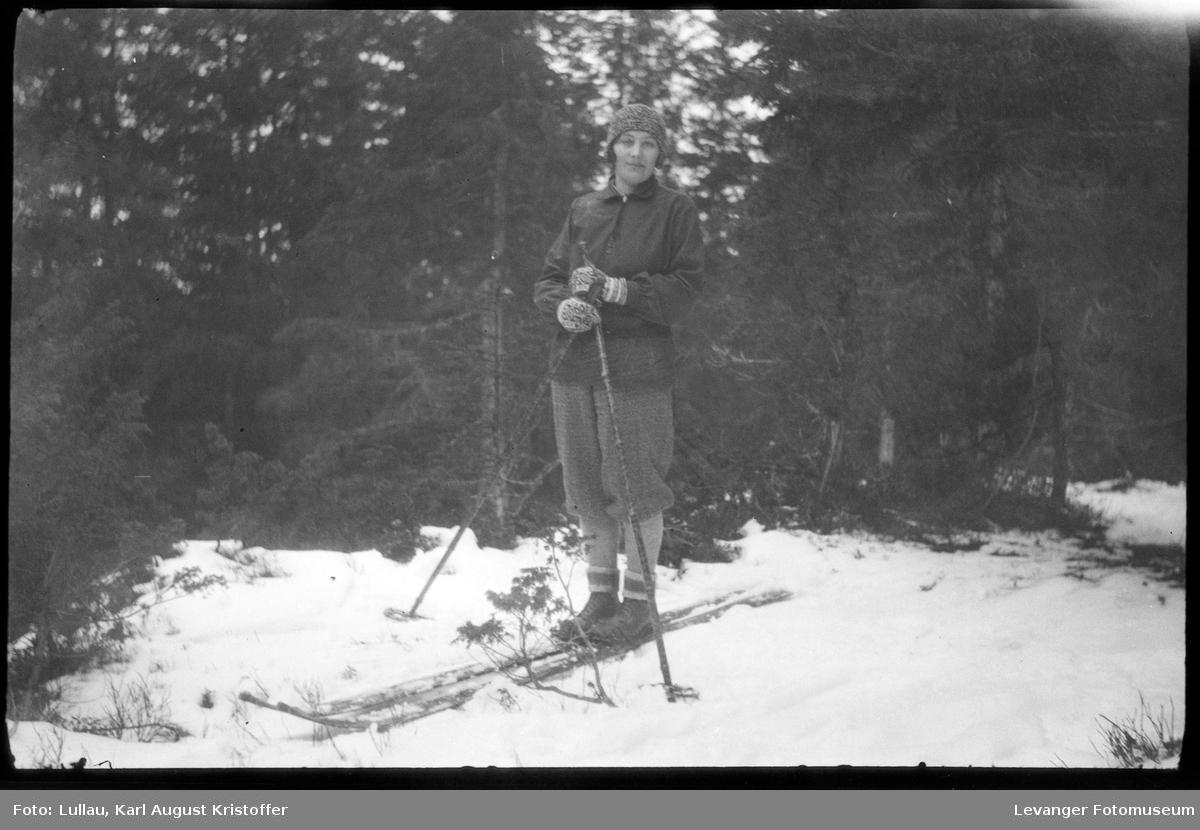 Jenny Lullau på skitur.