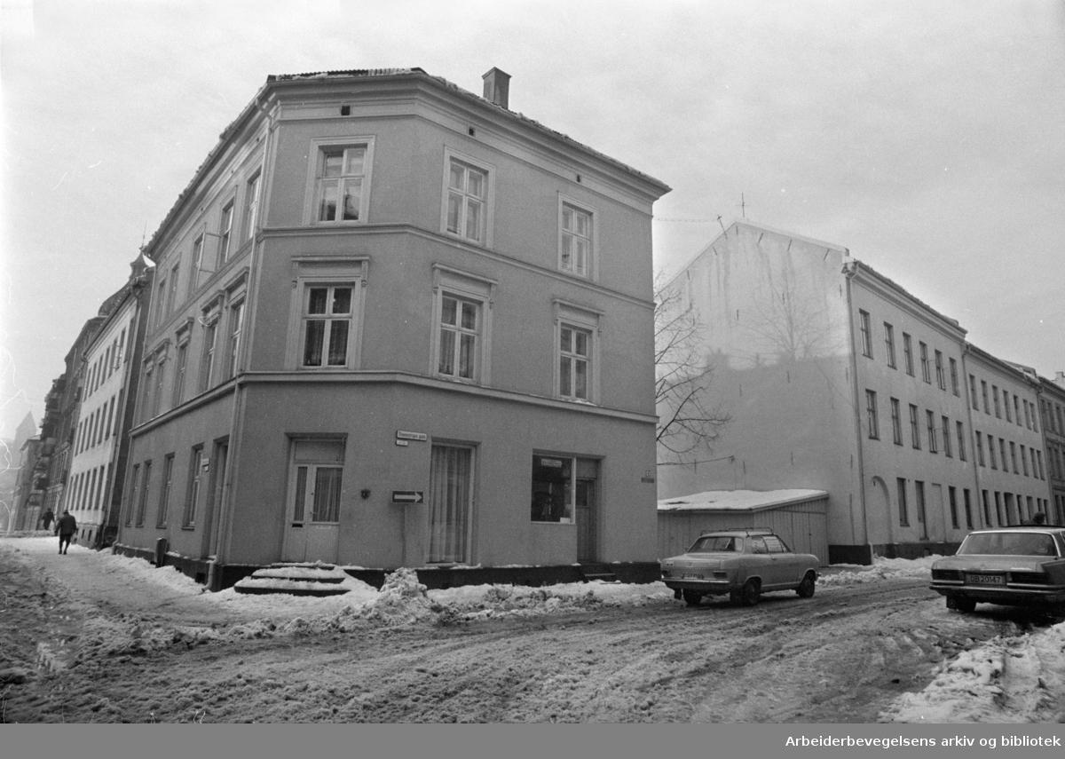Steenstrups gate. Februar 1976