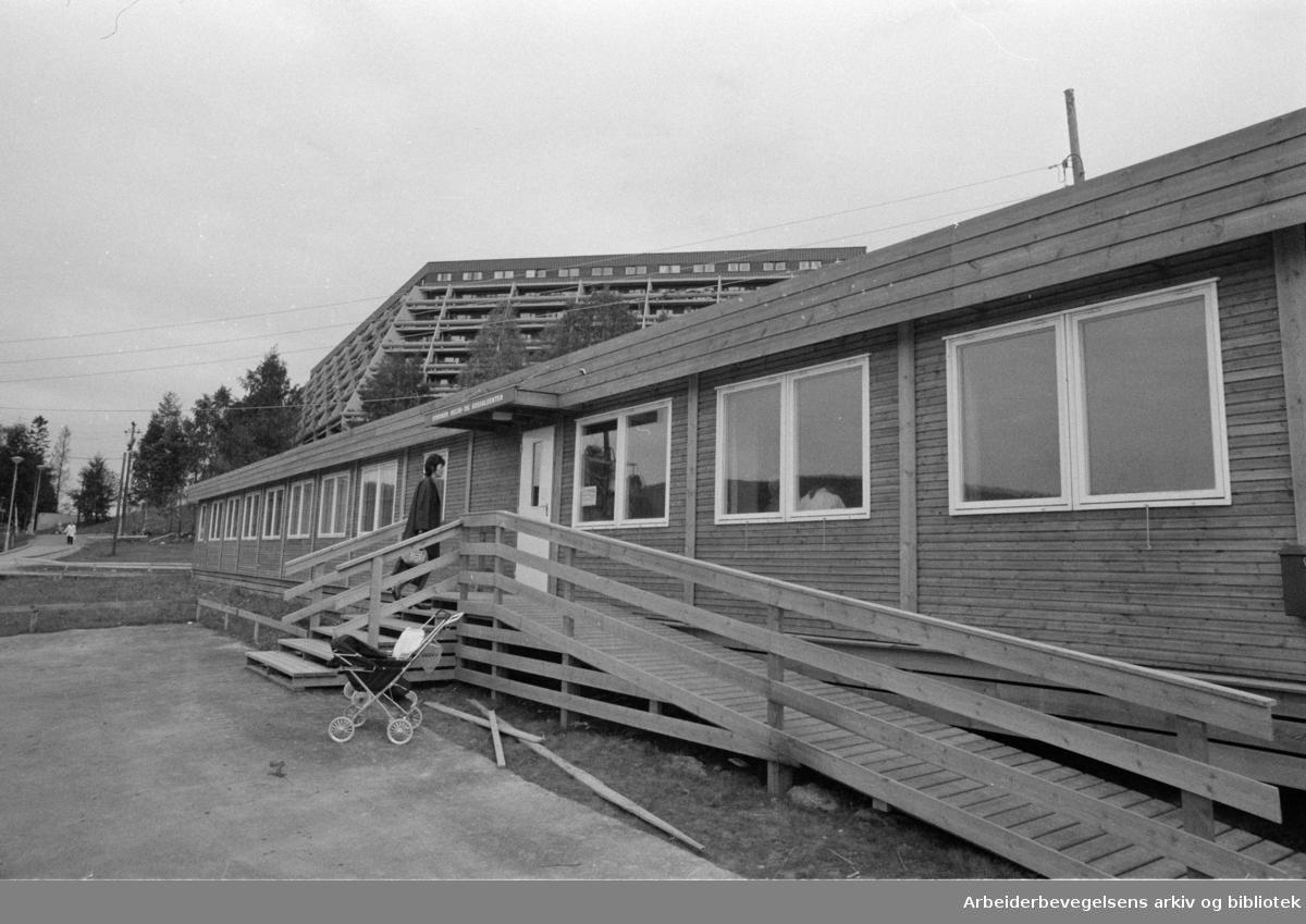 Stovner, diverse. Helse og Sosialsenter. Sosialavdelingen ferdig. September 1972